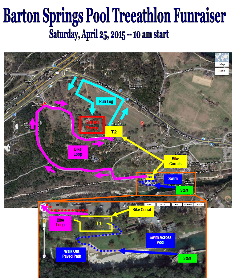 2015 BSP Treeathlon Course Map